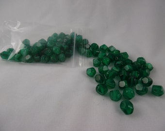 Beads Deep Green Glass Faceted 8 mm Pkg of 30 TMA247