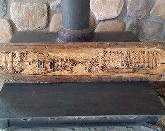 Theres nothing quite like Home....... Cowboys and Cabin carved on Barnwood