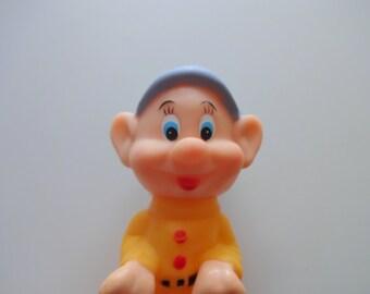 Vintage Snow White Dopey Dwarf Squeak Toy