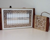 Hollywood Regency Gold and White Vintage Electric Serving Food Warmers Servers Georges Briard