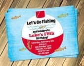 Fishing Bobber Birthday Invitation Print Your Own
