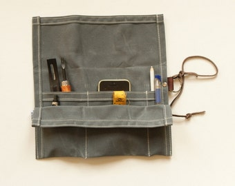Small Waxed Canvas Tool Roll