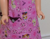 Pink Frozen Child Reversible Snowflake Button Original Design Apron Arvilla Ruby