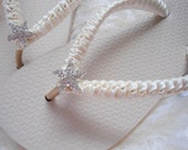 Ivory Bridal Flip Flops, Ivory Wedding Shoes, Nude Wedding Flip Flops, Ivory Flip Flops, Cream Sandals, Beach Wedding Flip Flops