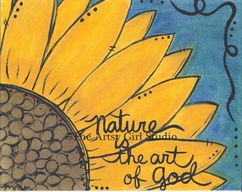 Nature is the art of god - Art Print available in three sizes