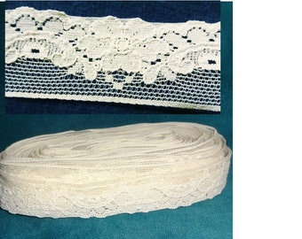 Vintage Off White Lace Nearly 8 Yards