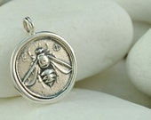 Ancient Greek Coin Pendant, Ephesus, Goddess Artemis, Bee, Stag and Palm Tree - Solid Sterling Silver