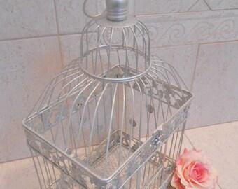 Large Silver Wedding Birdcage Card Holder / Wedding Card Box / DIY Wedding / Wedding Supplies / Home Decor