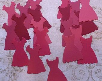Stampin Up Dress Up Paper Piecing Shapes from Stampin Up Die - Red Shades Cardstock for cards Crafts