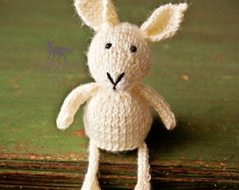 Knitted Bunny Rabbit Stuffy Newborn Prop
