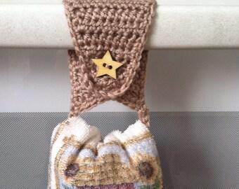Towel Holder / Towel Topper /Towel Ring / Kitchen Towel Holder / Crochet Towel Holder