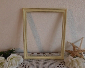 Yellow Picture Frame 8 x 10 Rustic Distressed Shabby Chic Country Farmhouse Beach Cottage Home Decor Sunny Photo Spring Summer Fall Wedding