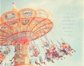 Carnival Swing Ride, Circus Art, Circus Print, Carnival Wall Art, Carnival Swing Print, Carnival Swing Photo, Carnival Swings, Nostalgic Art