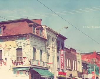 Toronto Photography, Toronto Photo, Toronto Art Print, Toronto Fine Art, Queen West Toronto, Queen Street West, Home Art Decor, Wall Art