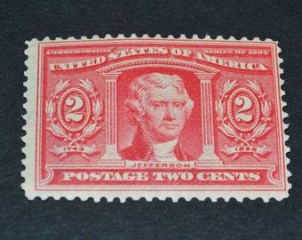 1904 mint unused US stamp Thomas Jefferson  Scott's #324