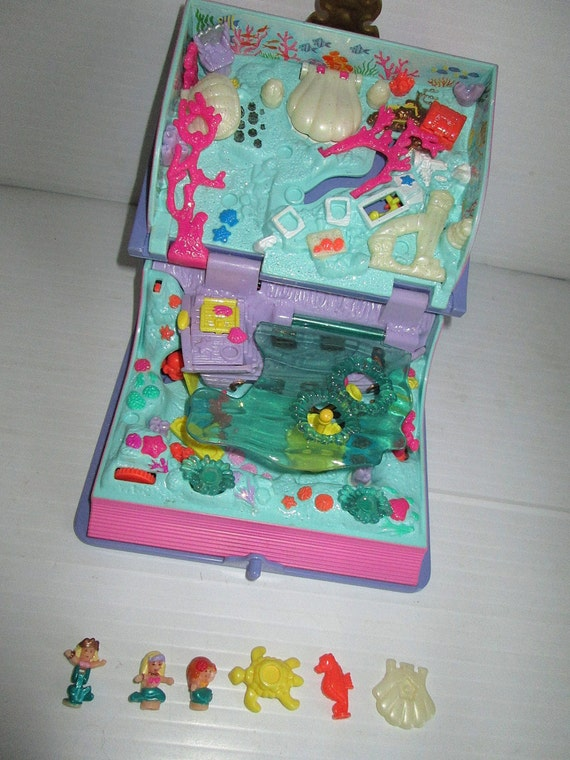 Polly Pockets For Sale: Bluebird Polly Pocket Vintage Sparkling Mermaid Adventure 1995