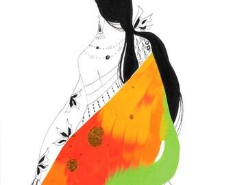 Asian Art Abstract Painting Original Abstract Art Original Abstract Painting Asian Painting Asian Decor Asian Art Zen Art: Sun and Leaves