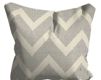 "Gray Outdoor Pillows, Grey OUTDOOR Pillows,Patio Decor, 20"" x 20"" Throw Pillows, Patio Pillows, Outdoor Chevron Pillows, Pillow Covers"