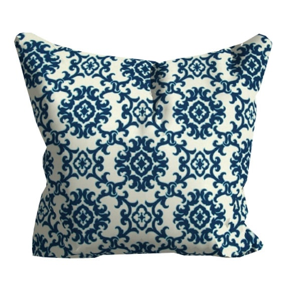 Blue Outdoor Pillows Blue OUTDOOR Throw by FineFreshDesign on Etsy