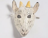 Paper mask kid goat mask hand made