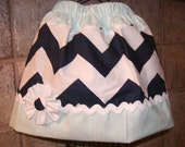 Girls Skirt...Navy Chevron Light Blue Dots..Available in 0-12 months, 1/2, 3/4, 5/6, 7/8, 9/10 Bigger Sizes Available