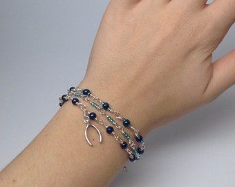 Multi-Strand Wishbone Wire Wrapped Bracelet