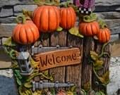 Welcome Harvest Pumpkin Fence