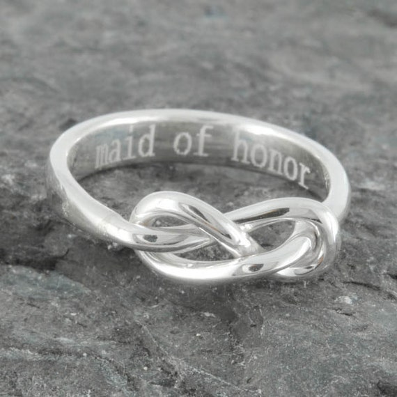 Infinity Ring Maid Of Honor Gift Best Friend Promise