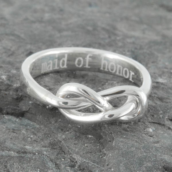1 Year Wedding Anniversary Gift From Maid Of Honor : Infinity Ring Maid of Honor Gift Best friend Promise