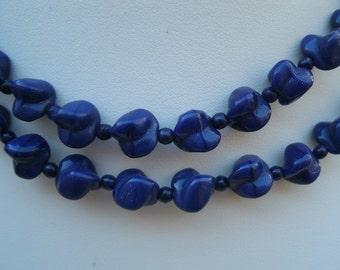 Vintage Blue Soapstone Necklace