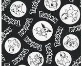 Pokemon on Jet Black From Robert Kaufman