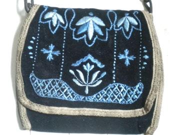 Antique handbag/purse velvet embroidery