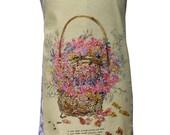 Metro Retro 'Pot Pourri Basket ' Vintage Tea Towel Ladies Womens Kitchen Apron . Christmas, Birthday, Gift Idea . Australian HandMade