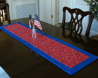 Table Runner for Summer Holidays 51 1/2 inches, Red White and Blue