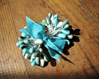 Sea Glass Blue and Green Millinery Stamen Bundle