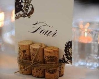 Wine Cork Table Number Holders