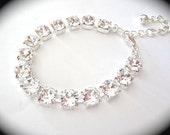 Crystal Bracelet ~ Swarovski ~ Wedding bracelet ~ Bridal jewelry - Sparkling -Clear crystals - Brides bracelet - Bridesmaids - Gift - SOPHIA