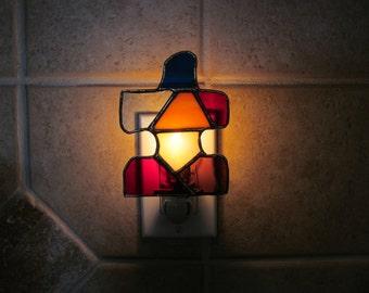 Autism Awareness Puzzle Piece Night Light in Brilliant Colors -
