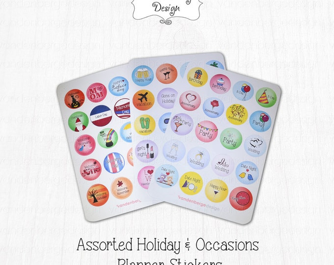 Planner Stickers - Life-Holidays & Occasions - Perfect for the Erin Condren Life Planner!