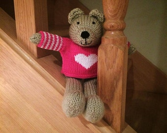 Paige - Hand Knitted Teddy Bear
