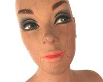Vintage  mannequin head  / torso / half body