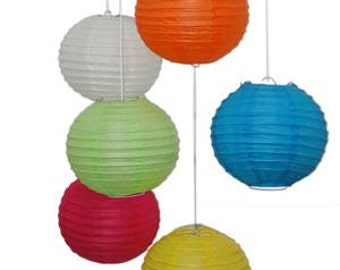 Paper Lanterns in assorted colors