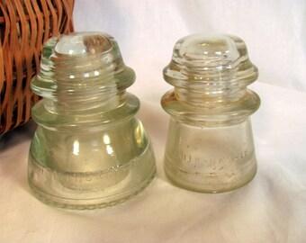 Clear Glass Insulators /  Hemingray 42 and Hemingray 17 Clear Glass Insulators