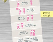 Timeline Save the Date - Cartoon