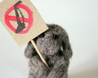 Dust Bunny Protesting Vacuuming