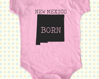NEW MEXICO BORN map Baby One-Piece, Infant Tee, Toddler, Youth Shirts