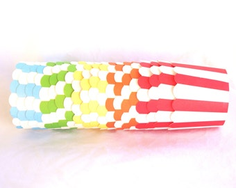 Small  Rainbow-with light blue-Nut/Candy/Baking Cups--20ct--Parties--cupcakes-gumballs-snacks
