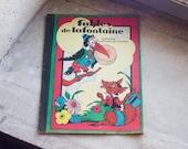 Antique French Fairytale Book // 1930 Children's Book  Fables de la Fontaine