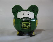 Personalized, Handpainted, Tractor Piggy Bank - Kids Piggy Banks ) - MADE TO ORDER