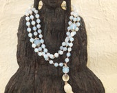 FREE SHIPPING Handmade Knotted Sri Lanka Rainbow Moonstone Mala for Increased Intuition